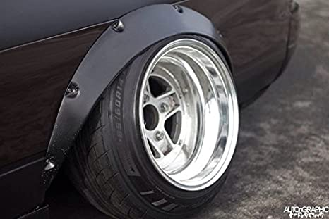 70mm 4pcs zg style ABS Plastic Universal JDM Fender Flares Wheel Arch 2,5 inch