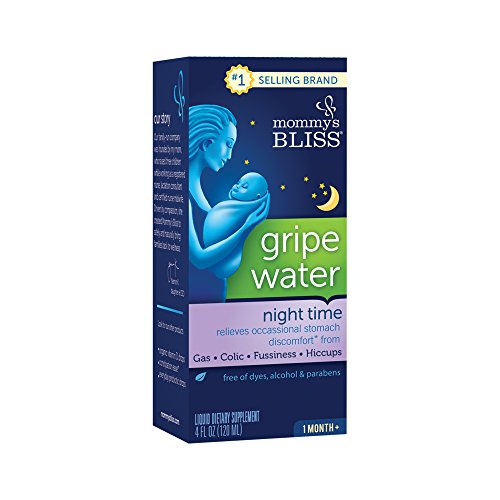 Mommy's Bliss Night Time Gripe Water for Baby's Tummy Trouble - Soothes Occasional Infant Stomach Discomfort from Gas, Colic, Fussiness, & Hiccups - 4 Fl Oz
