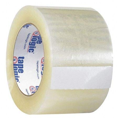 Quiet Carton Sealing Tape, 2.6 Mil, 3x110 yds, Clr, PK24