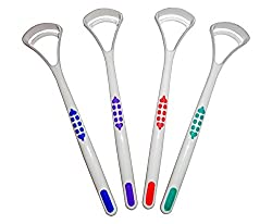 Dental Aesthetics Uk Tongue Scraper Cleaner X 2 Choice Of 4 Colours Oral Dental Care (Blue, Blue)