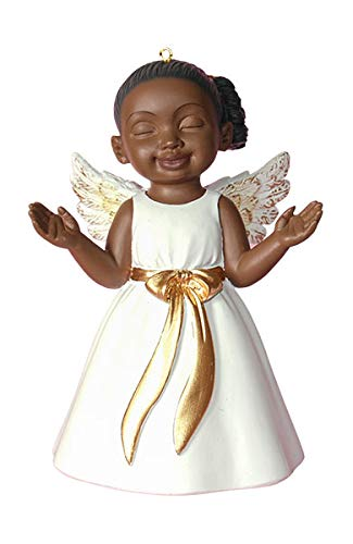 African American Christmas Ornament Angel Worship White - Amazon.com: African American Christmas Ornament Angel Worship White