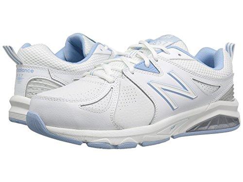 潜む組み合わせる科学的(ニューバランス) New Balance レディーストレーニング?競技用シューズ?靴 WX857v2 White/Light Blue 7 (24cm) B - Medium