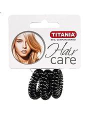 توك شعر بلاستيك صغيرة من تيتانيا، 3 قطع - اسود