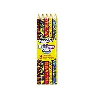 Amazon.com : RoseArt Rainbow Color Swirl Colored Pencil ...