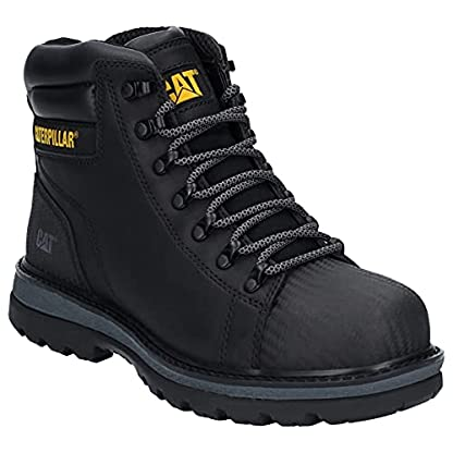 Caterpillar CAT Foxfield Mens Lace Up Safety Boot in Black - Size 9 UK - Black 1