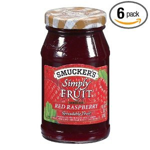 Smuckers Simply Fruit Red Raspberry Seedless Spreadable Fruit 10 OZ (Pack of 24)