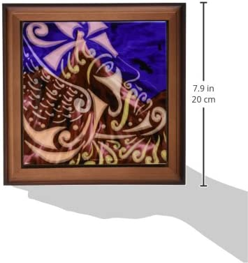 3drose Ft 23199 1 Thor Mythology Tribal Abstract Norse Pagan Asatru Framed Tile Artwork 8 By 8 Inch Home Kitchen