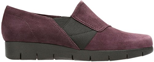 Clarks Womens Monely Monarch Scivolare Su Melanzana