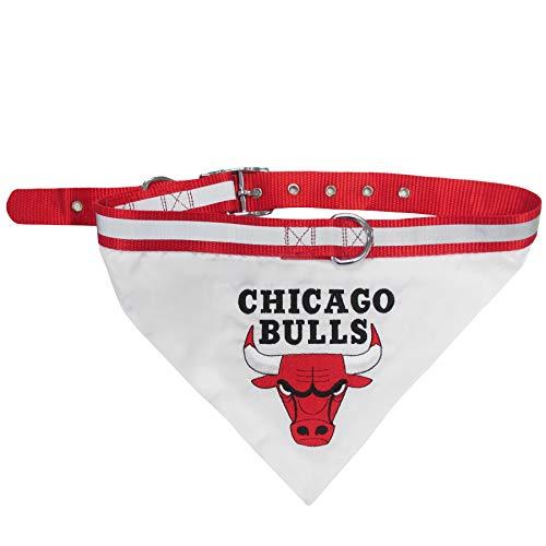 Pets First NBA Bandana - Chicago Bulls Dog Bandana with Reflective & Adjustable Dog Collar, Small