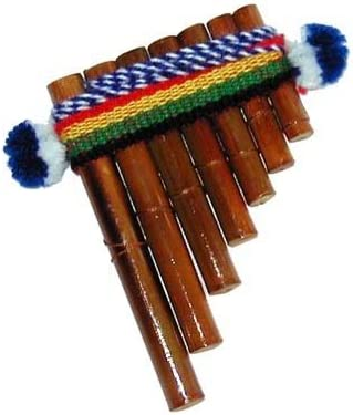 CASE INCLUDED-ITEM IN USA BAMBOO  PANFLUTE 18  PIPES FROM PERU