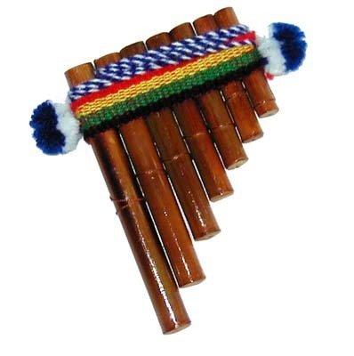 "Sanyork Fair Trade 4"" Small Pan Flute One Dozen Pack Wholesale Musical Instrument Peru000636"