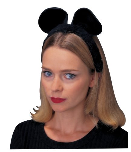 White Ears Costume Mouse (Rubies Black Cat/Mouse Ear)
