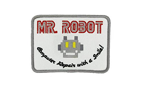 MR ROBOT FSOCIETY TV SHOW White Embroidery Patch Halloween costume Badge Easy Iron -