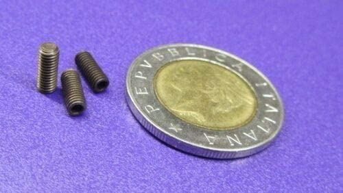 Flat Tip M3 x 0.5 x 8 mm Length 100 Pcs of Steel Metric Set Screws