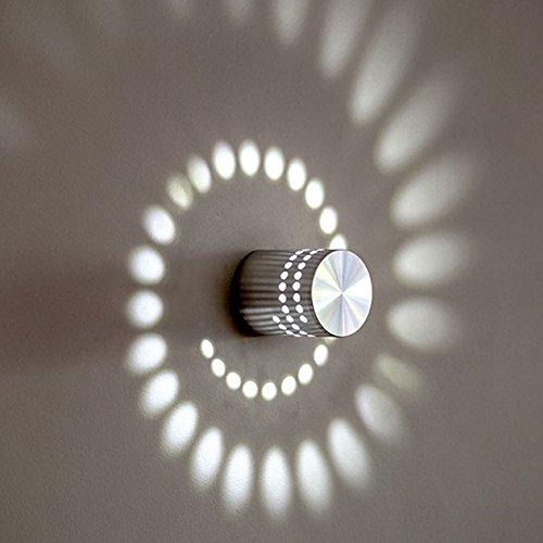 Plafonnier Spirale Effet 3 W Lampe De Down Applique Murale