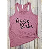 Boss Babe, Racerback Tank, Girl boss Shirt, Lady Boss Shirt, Trendy Tees for Mom, Mother's Day, Women's Shirt, Gift for Mom, Boss gift