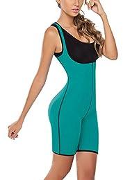 Panegy Womens Neoprene Full Bodyshaper Weight Loss Bodysuits Hot Sweat Shirts