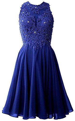 Blau Mini Festlichkleider Kurzes Abendkleider Partykleider Weinrot mia Promkleider Ballkleider La Royal Spitze Braut fZH7IB