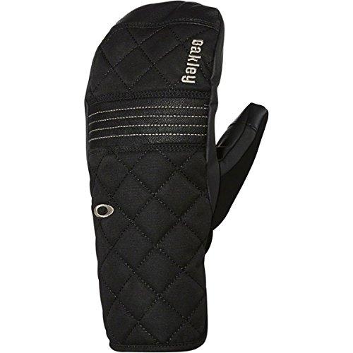 Oakley Womens Silver Fir Mitten Gloves Large Black