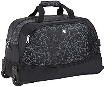 Minmin-lgx Male and Female Trolley Bag Expandable Foldable Large Capacity Trolley Bag Color : Black