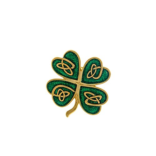 Enameled Shamrock/4-Leaf Clover Pin [St. Patrick's (Enameled Leaf Pin)