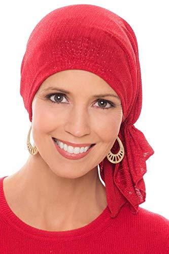 Slip-On Slinky-Caps for Women with Chemo Cancer Hair Loss Glitter Sparkle ()