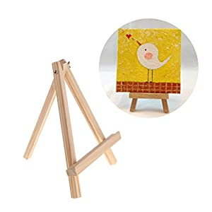 Qupida Display Display Wooden Easel Small Image Art and Painting Student School Supplies