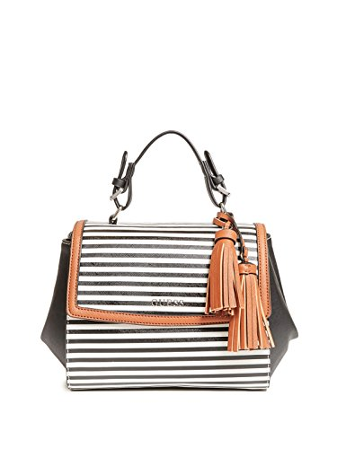 GUESS Factory Women's Take A Dive Striped (Black Striped Handbag)