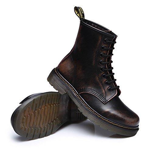 Femme Chaussures Marron Lacets Classiques Bottes Bottines Sport Boots Ubeauty Martin À Flattie 5vn4qPxwY