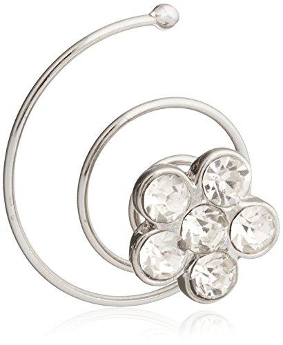 Darice VL3057 Rhinestone Jewel Hair Twist Accent, Silver, 4-Pack