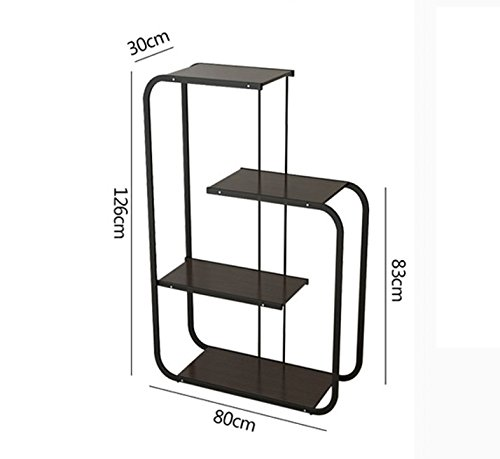 Simple frame creative storage shelves partition flower rack multi - layer creative flower racks ( Color : Black ) by Flower racks - xin