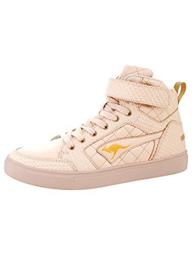 Damen KangaROOS High by variablem Rosè Sneaker mit Klettriegel qBRTPH