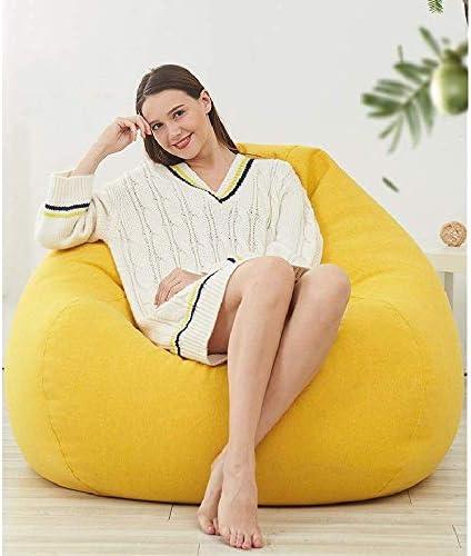 ソファ ビーンバッグチェアビッグレイジーソファベッドルームのバルコニー怠惰な椅子(カラー:オレンジ、サイズ:XL) (Color : Yellow, Size : XLarge)
