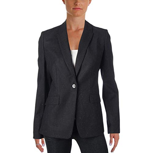 Hugo Boss BOSS Womens Jeronala Pinstripe Business Blazer Black 10