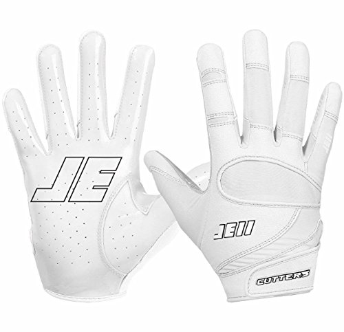 Cutters Gloves Signature Gloves, White, Small (Cutter Grip)