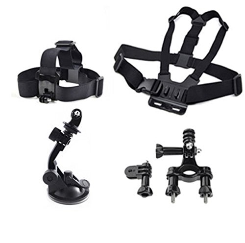 GoPro Hero 2 3 4 5 Accessries Case Camera Kit Chest Head Mount Suction Handlebar
