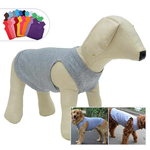 2018 Pet Clothes Dog Clothing Blank T-Shirt Tanks Top Vests for Small Middle Large Size Dogs 100% Cotton Dog Summer Vest Classic (XL, -