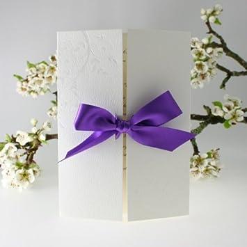 Purple Gatefold Wedding Invitation Diy Kit Amazon Co Uk Office