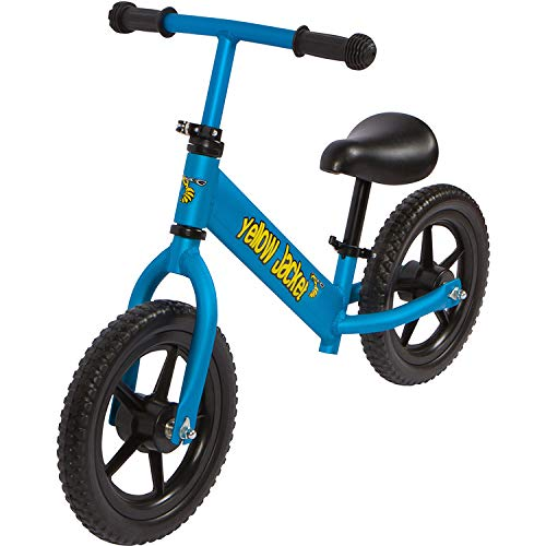 Yellow Jacket Kids Balance Bike - Glider Push Bike for Kids, Toddlers Ages 2, 3, 4 & 5 Years Old Boys and Girls, No Pedal Control Walking Bicycle - Ultra Lightweight, Blue