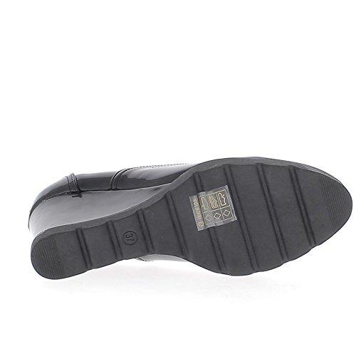 Negro de mujer Derbys uñas offset tacones de 9, 5cm