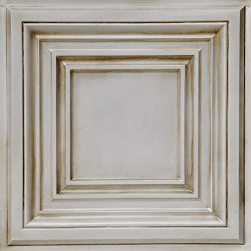 From Plain To Beautiful In Hours DCT05aw-24x24-25 Washington Square Ceiling Tile Antique White 25 by From Plain To Beautiful In Hours (Image #2)