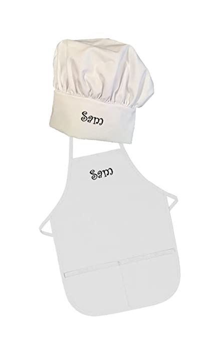d634bbc9253 Image Unavailable. Image not available for. Color  Personalized Embroidered  Kids Apron and Chef Hat ...