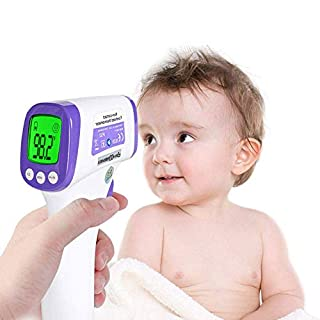 Thermometer for Adults Forehead, Touchless Thermometer for Adults and Kids, Infrared Thermometer with Fahrenheit Reading for Baby and Adults, ˚C/˚F Switchable, Fever Alert Function