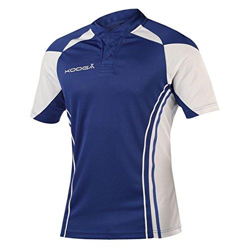 KooGa Junior Stadium Match Shirt Hard-wearing And Comfortable 100% Polyester (Youth - 33', Royal/ White)