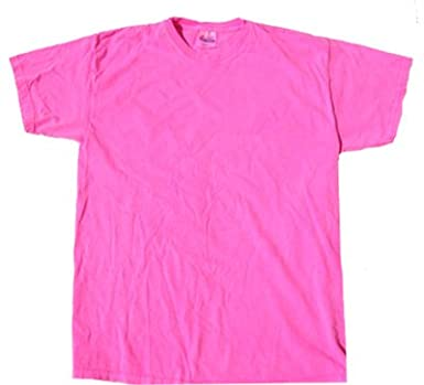 Amazon.com: Neon PINK Bright Colorful Youth Kids Tee Shirt T-Shirt ...