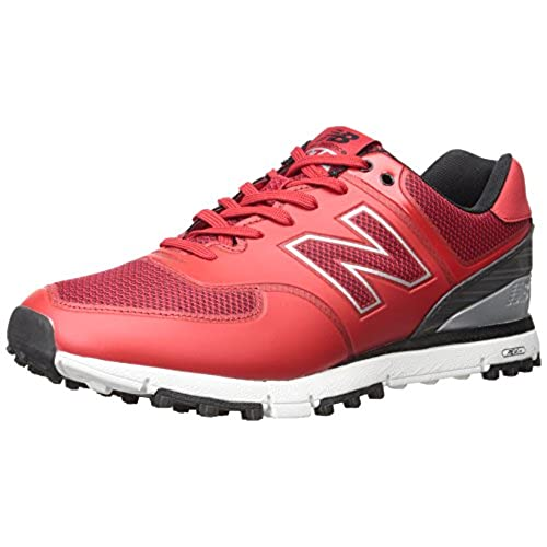 New Balance Men's NBG574B Golf Shoe, Red, 11 D US