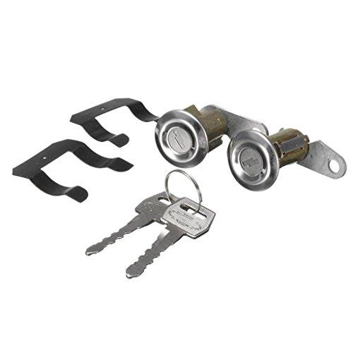 MagiDeal 2Pcs Lockcraft Door Lock Cylinder + 2 Keys KIT For Ford Truck Falcon Mercury