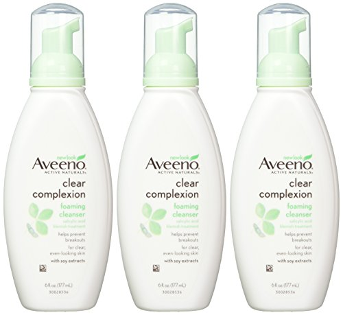 Aveeno-Clear-Complexion-Foaming-Facial-Cleanser-6-Fl-Oz-Pack-of-3
