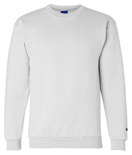 Sweatshirt Crewneck Fleece Adult (Champion Adult 50/50 Crewneck Sweatshirt, White - Size Small)