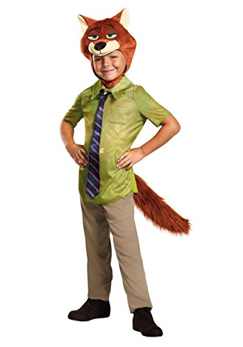 Disguise Nick Wilde Classic Zootopia Disney Costume, X-Small/3T-4T (Easy Disney Costume)
